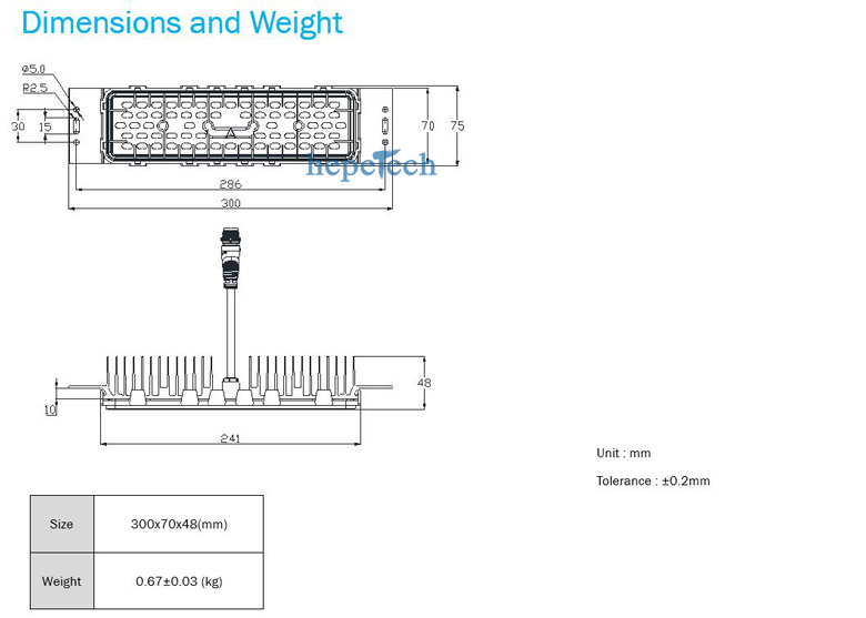 60w led street light module dimension